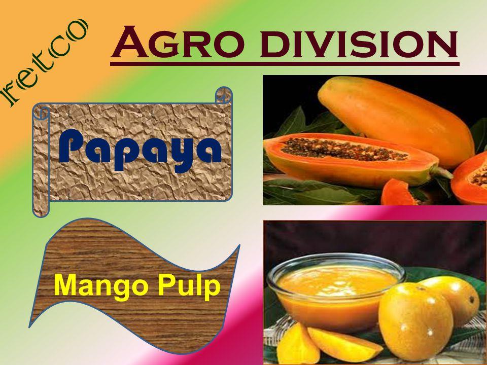 Agro division retco Papaya Mango Pulp