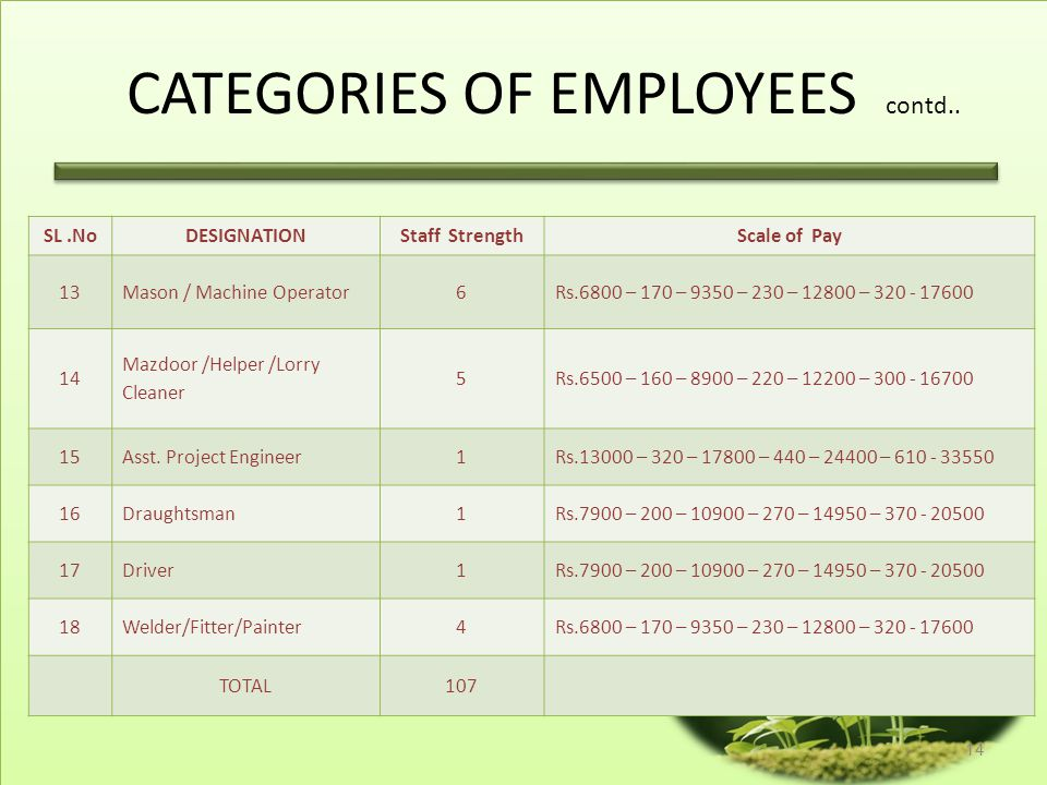CATEGORIES OF EMPLOYEES SL.No DESIGNATIONStaff Strength Scale of Pay 1Managing Director1From the Officers of Coop. Department on Deputation 2Administr