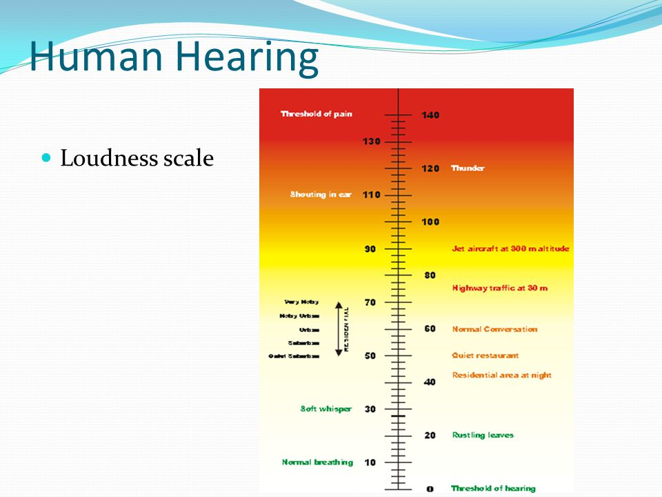 Human Hearing Loudness scale
