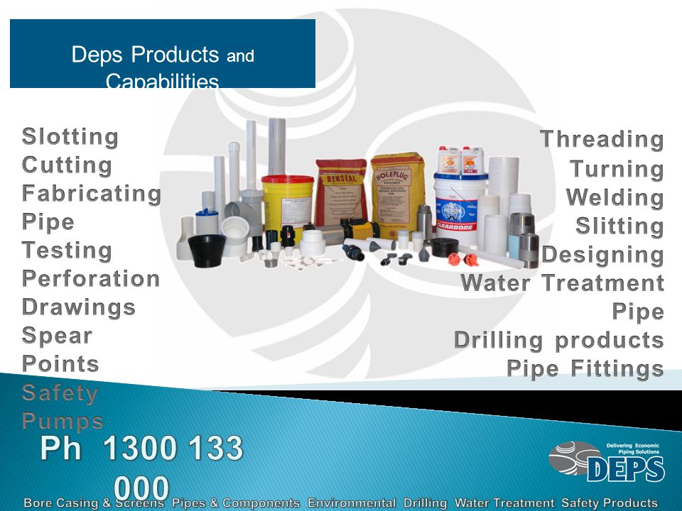 Deps Products and Capabilities