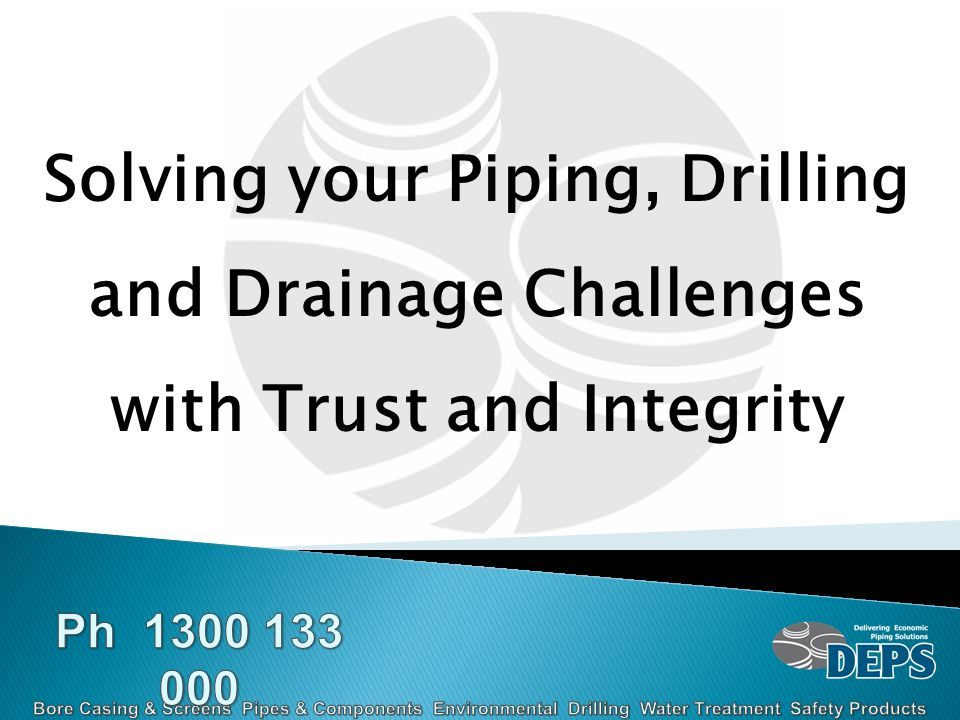 Solving your Piping, Drilling and Drainage Challenges with Trust and Integrity