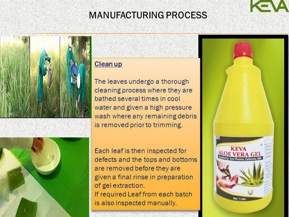 Pure Extraction & Stabilization Droi Pharmas patented Extraction process gives its customer the pure Aloe in gel form.
