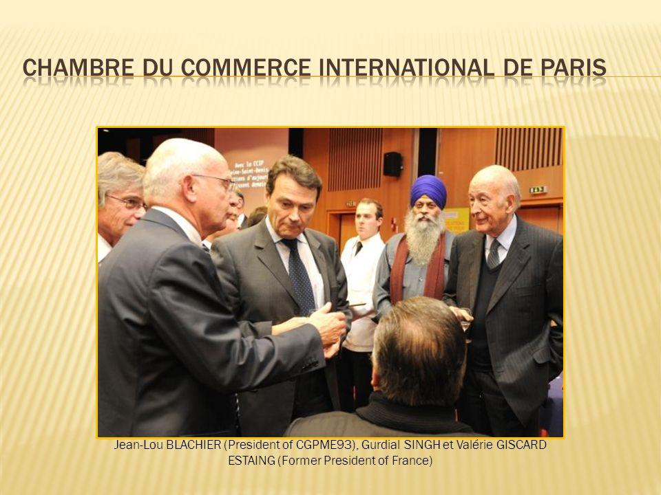 Jean-Lou BLACHIER (President of CGPME93), Gurdial SINGH et Valérie GISCARD ESTAING (Former President of France)