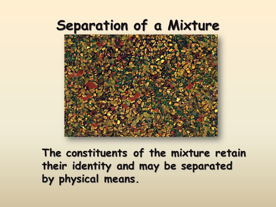 Separation of a Mixture The components of dyes such as ink may be separated by paper chromatography.