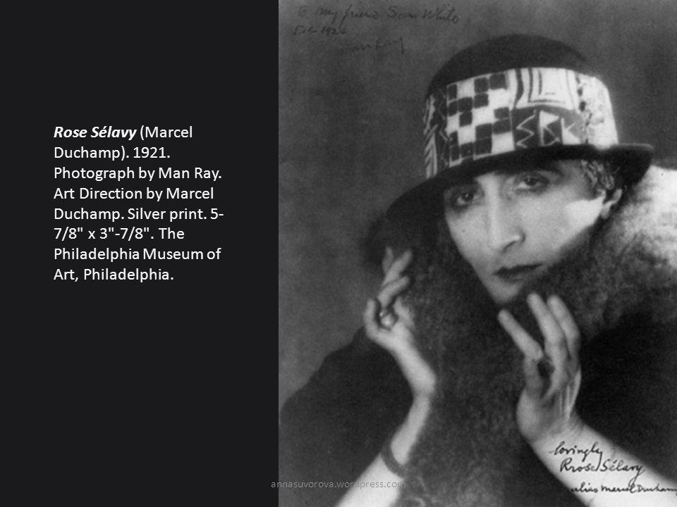 Rose Sélavy (Marcel Duchamp).1921. Photograph by Man Ray.