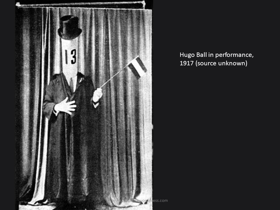 Hugo Ball in performance, 1917 (source unknown) annasuvorova.wordpress.com
