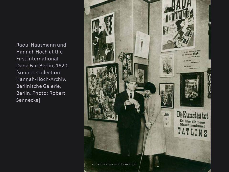 Raoul Hausmann und Hannah Höch at the First International Dada Fair Berlin, 1920.