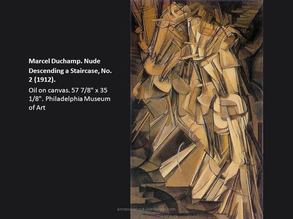 Marcel Duchamp.Nude Descending a Staircase, No. 2 (1912).