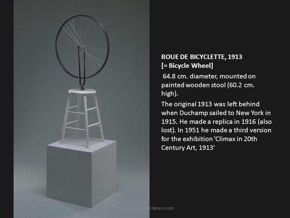 ROUE DE BICYCLETTE, 1913 [= Bicycle Wheel] 64.8 cm.