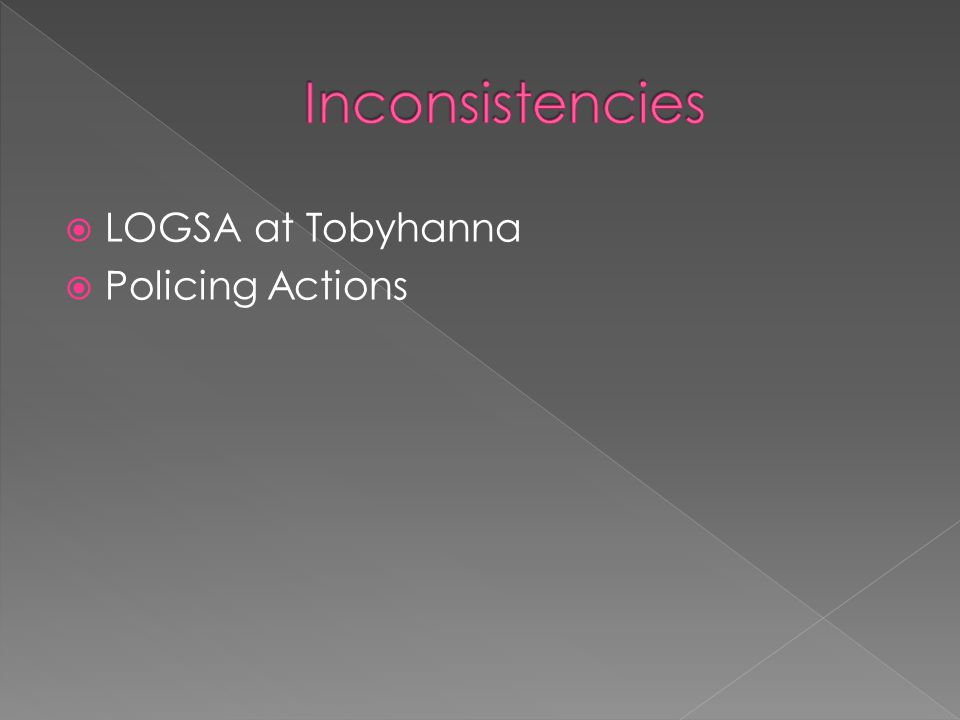 LOGSA at Tobyhanna Policing Actions