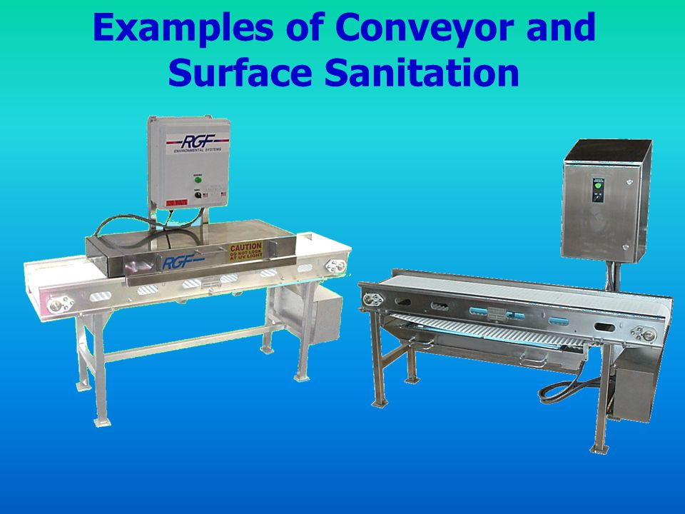 Examples of Conveyor and Surface Sanitation