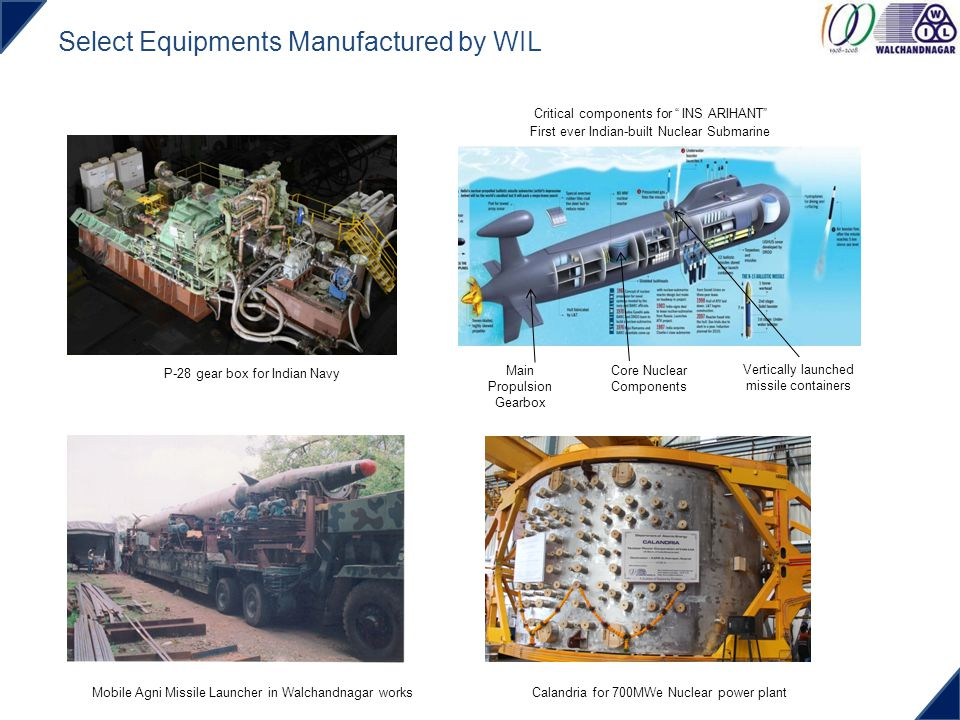 Select Equipments Manufactured by WIL P-28 gear box for Indian Navy Calandria for 700MWe Nuclear power plant Core Nuclear Components Vertically launch