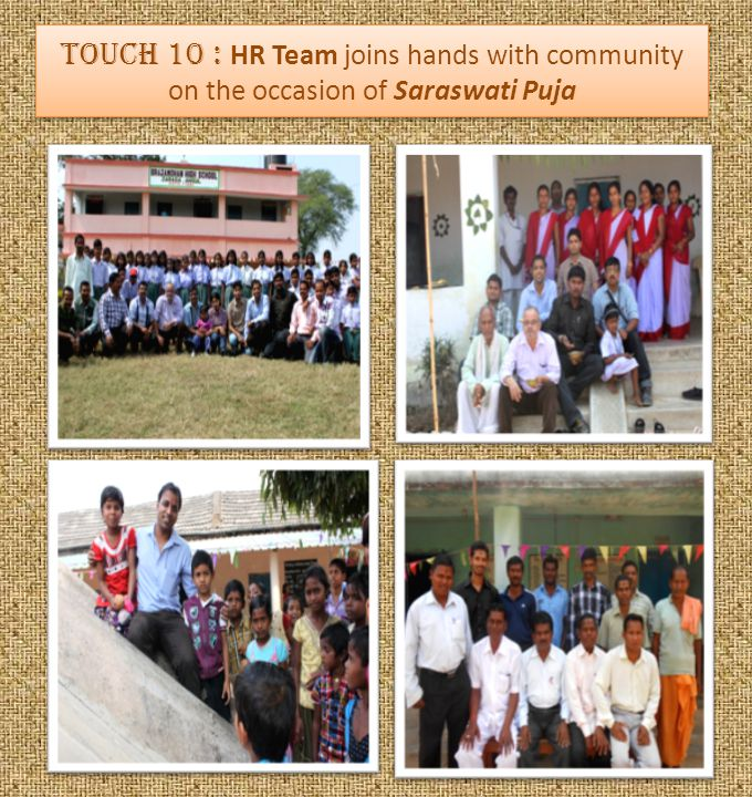 Touch 10 : HR Team joins hands with community on the occasion of Saraswati Puja