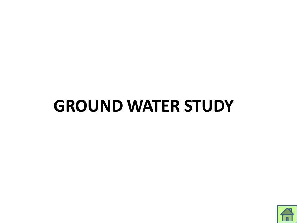 GROUND WATER STUDY