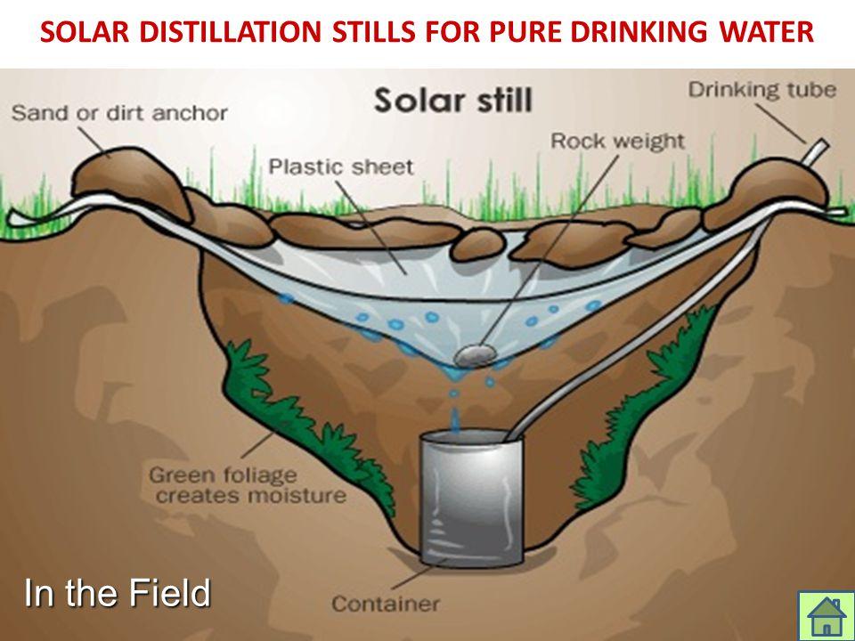 SOLAR DISTILLATION STILLS FOR PURE DRINKING WATER In the Field