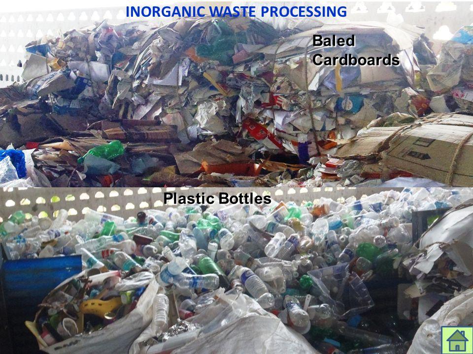 INORGANIC WASTE PROCESSING Baled Cardboards Plastic Bottles aarenghosh@eximgroupindia.net