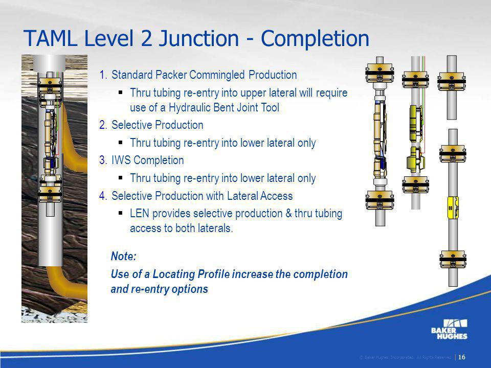 © Baker Hughes Incorporated. All Rights Reserved. | 16 1.Standard Packer Commingled Production Thru tubing re-entry into upper lateral will require us