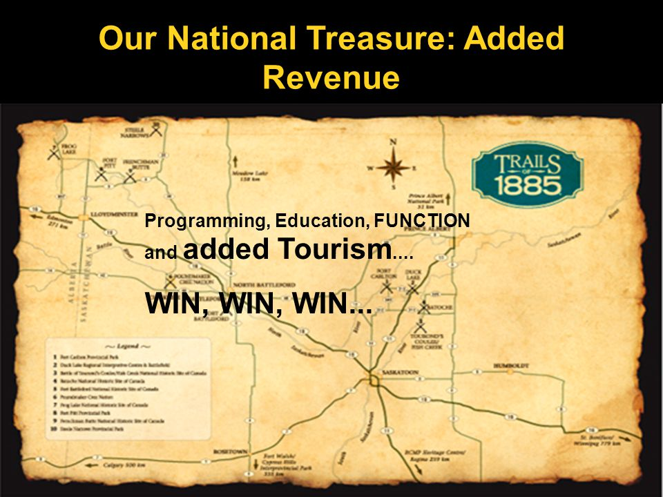 Our National Treasure: Added Revenue Programming, Education, FUNCTION and added Tourism....