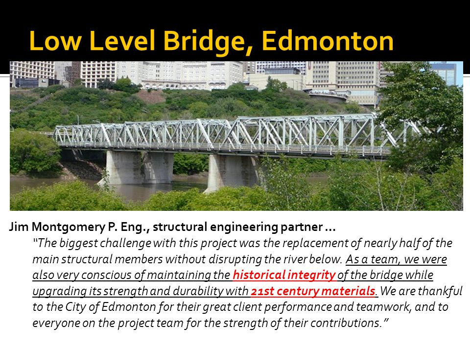 Low Level Bridge, Edmonton Jim Montgomery P.