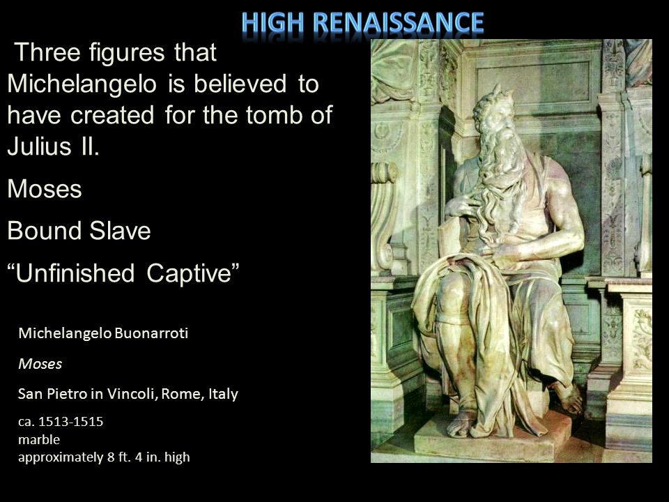 Michelangelo Buonarroti Creation of Adam, Sistine Chapel Ceiling Vatican City, Rome, Italy 1511-12 fresco approximately 18 ft.
