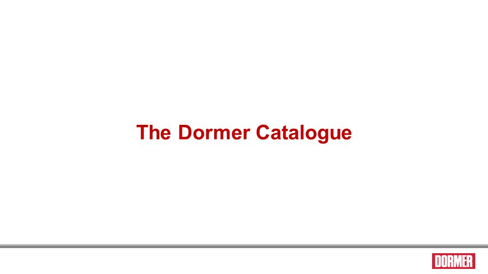 The visual index pages The Dormer Catalogue 125 W Suitability Excellent Good Speed Peripheral speed value Feed code Tables to convert feed code to values are at the end of each relevant visual index.