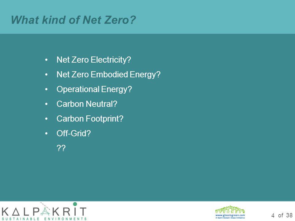 of 38 4 Net Zero Electricity. Net Zero Embodied Energy.