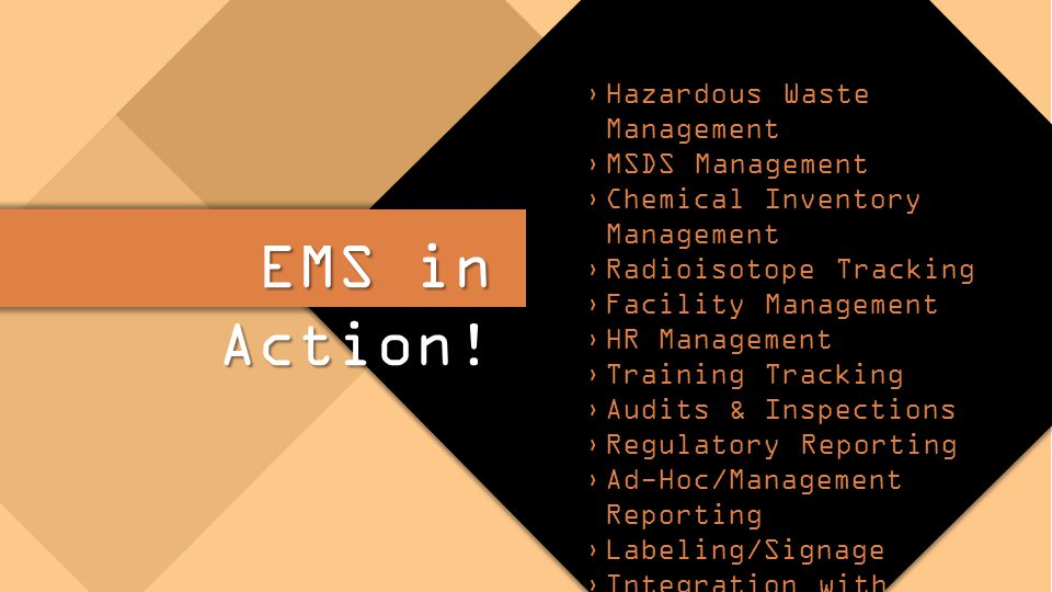 EMS in Action.