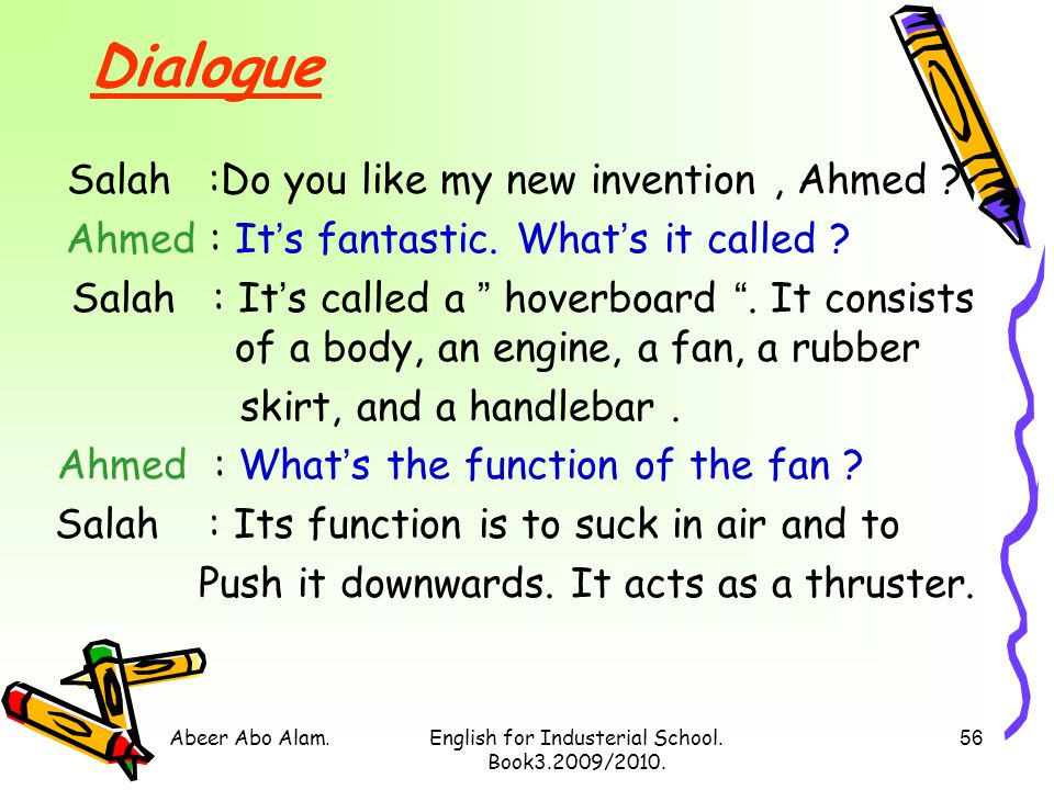 Abeer Abo Alam.English for Industerial School. Book3.2009/2010. 55 UNIT FIVE Inventions