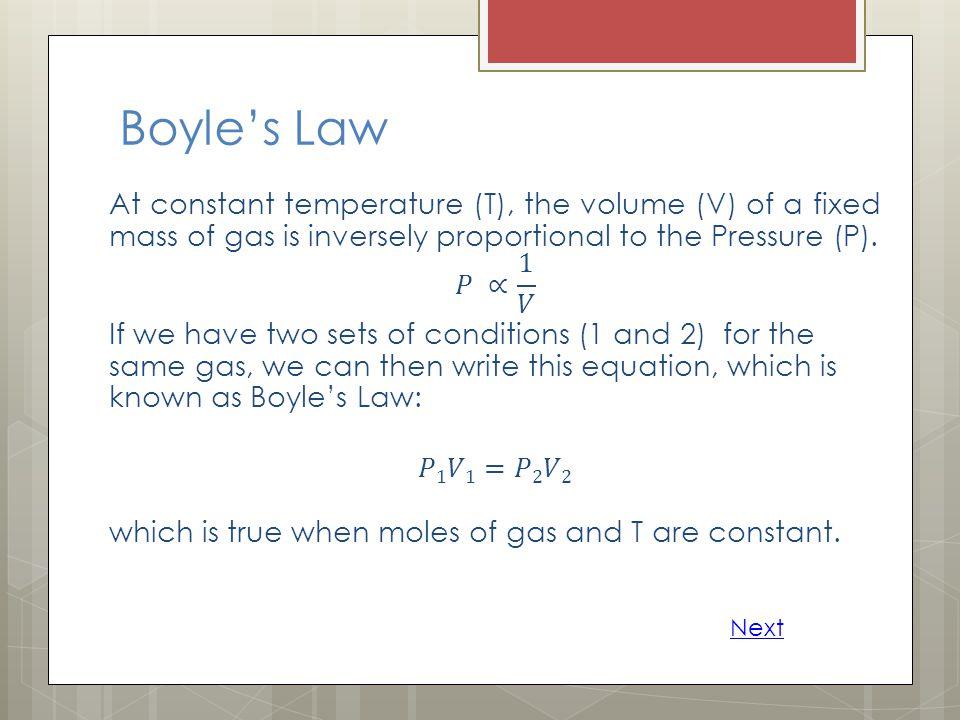 Daltons Law of Partial Pressures Next