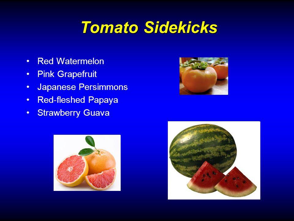 Tomato Sidekicks Red Watermelon Pink Grapefruit Japanese Persimmons Red-fleshed Papaya Strawberry Guava