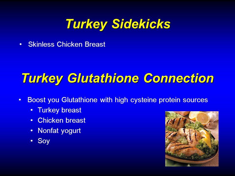 Turkey Sidekicks Skinless Chicken Breast Turkey Glutathione Connection Boost you Glutathione with high cysteine protein sources Turkey breast Chicken breast Nonfat yogurt Soy