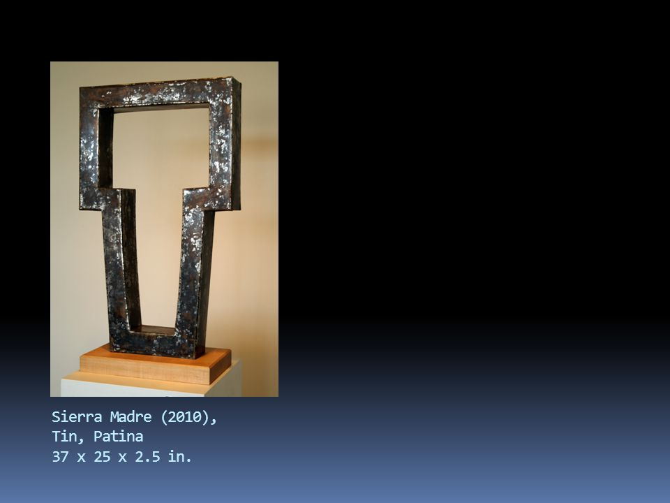 Chaco (2009), hammered copper, wood 26x21x3 in.