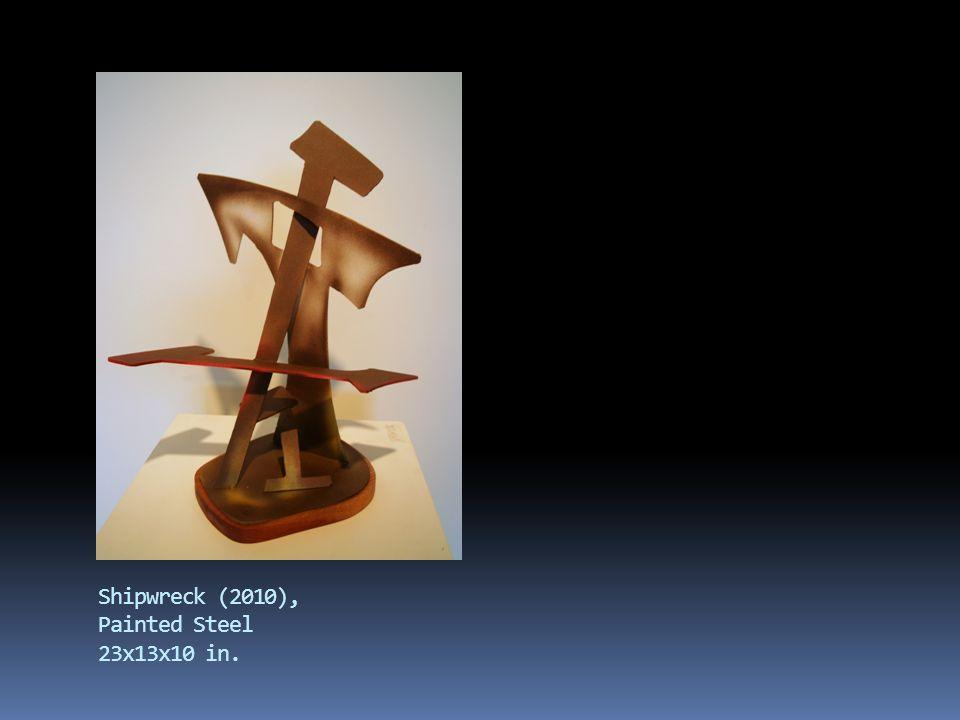 Dancer (2009), copper, wood 35x7x3 in.