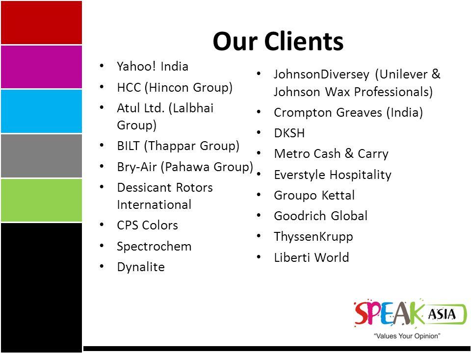 Yahoo. India HCC (Hincon Group) Atul Ltd.