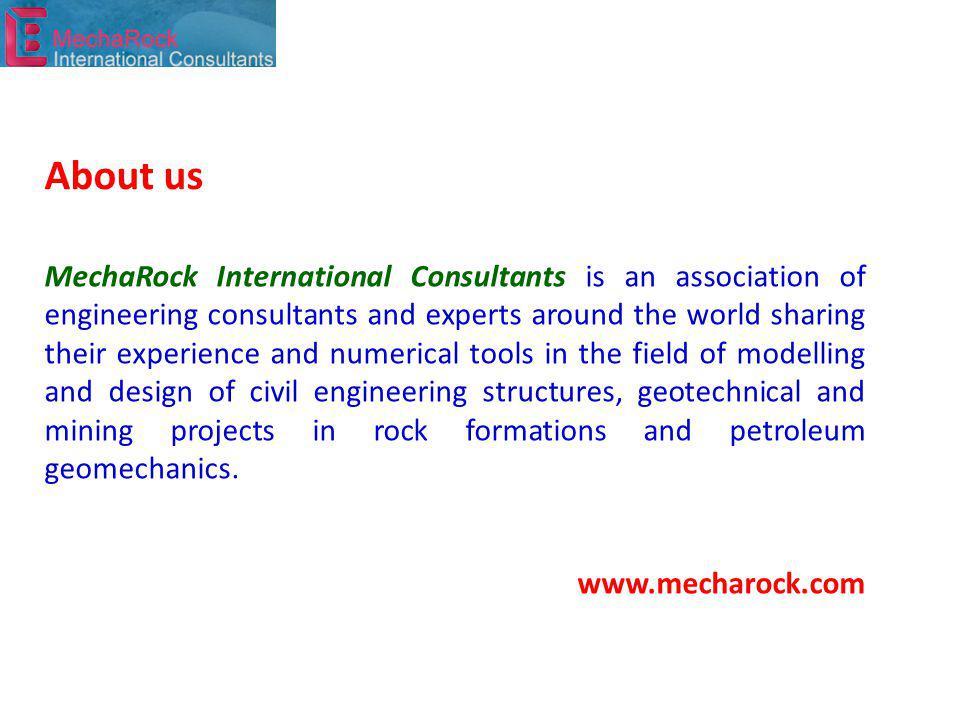 Main activities Software DISROC® Consulting services MechaRock International Consultants