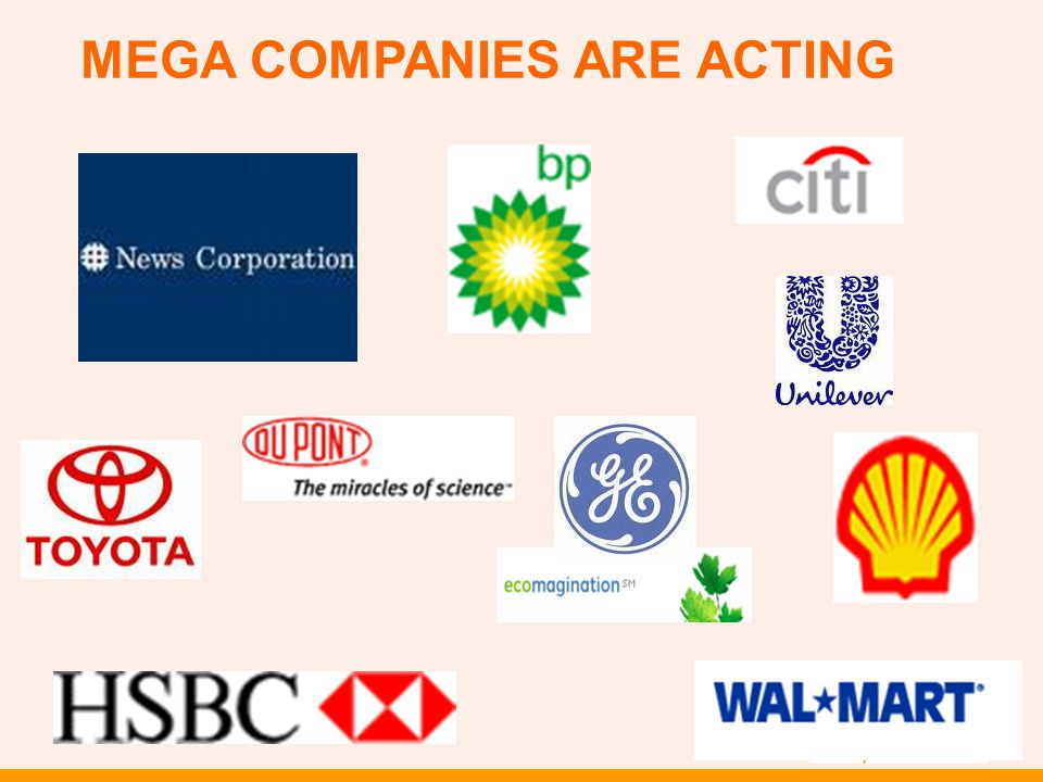 MEGA COMPANIES ARE ACTING