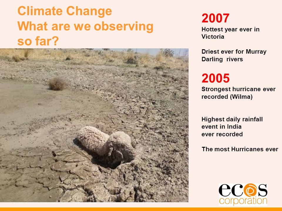 Climate Change What are we observing so far.