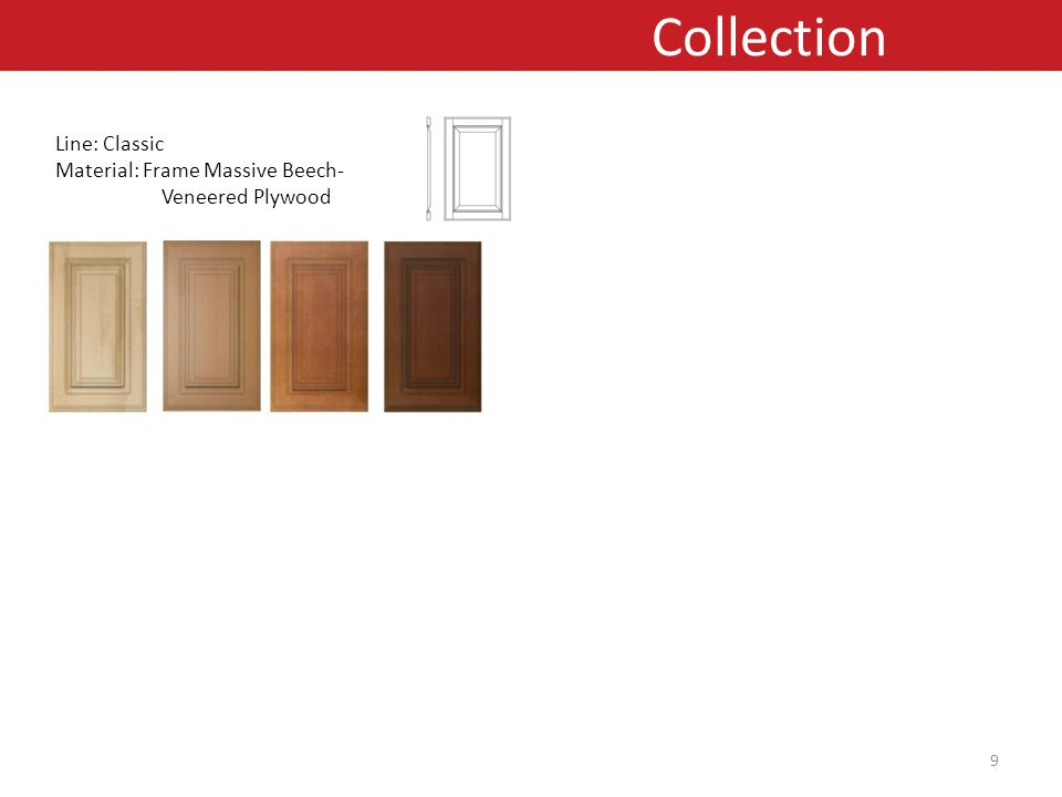 Line: Classic Material: Frame Massive Beech- Veneered Plywood Collection 9