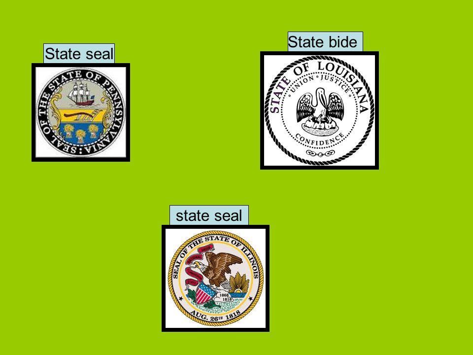 State seal State bide state seal