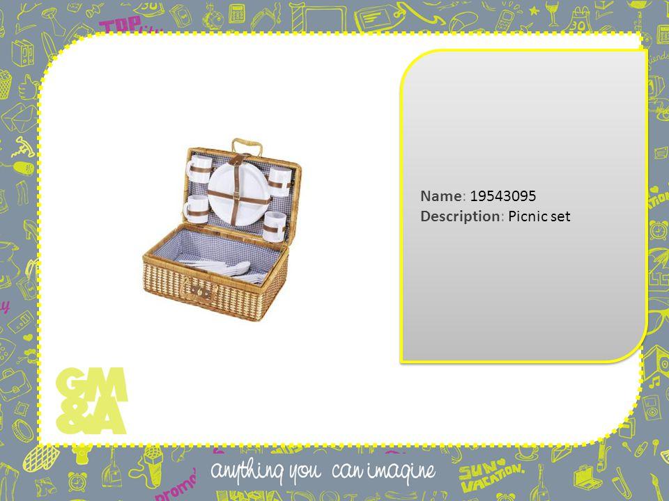 Name: 19543095 Description: Picnic set Name: 19543095 Description: Picnic set