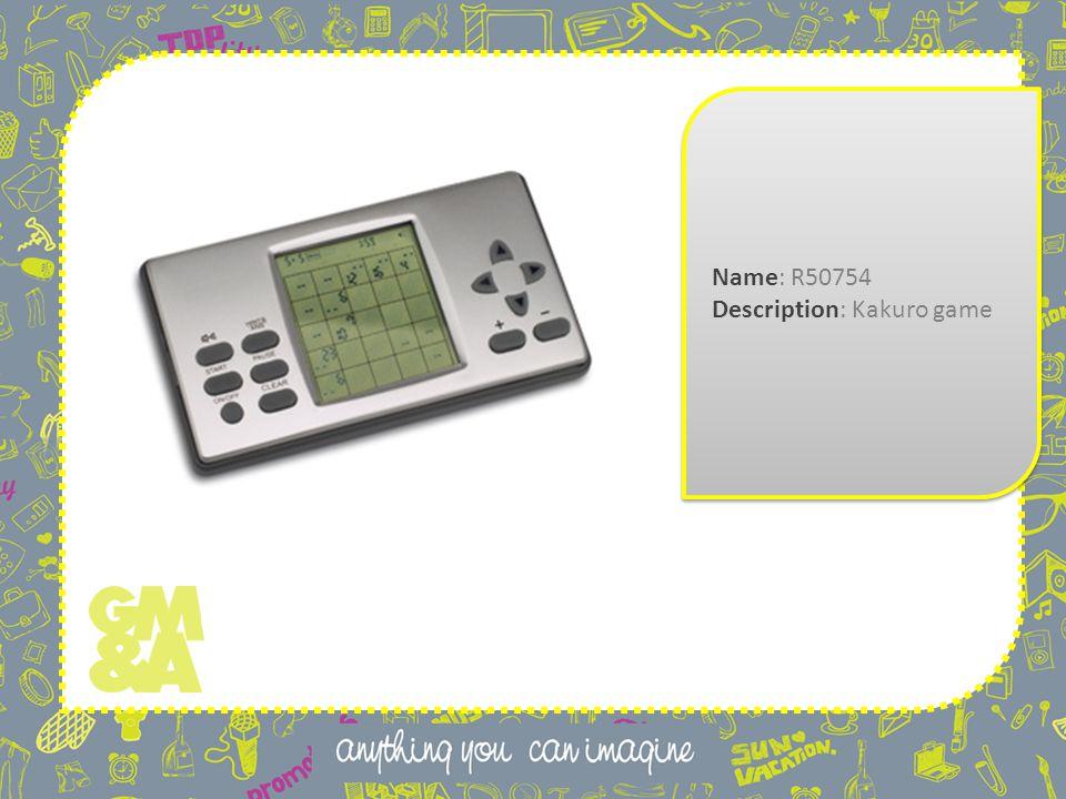 Name: R50754 Description: Kakuro game Name: R50754 Description: Kakuro game