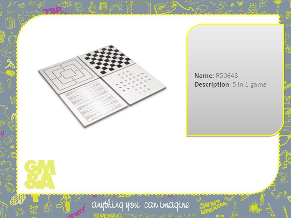 Name: R50648 Description: 5 in 1 game Name: R50648 Description: 5 in 1 game