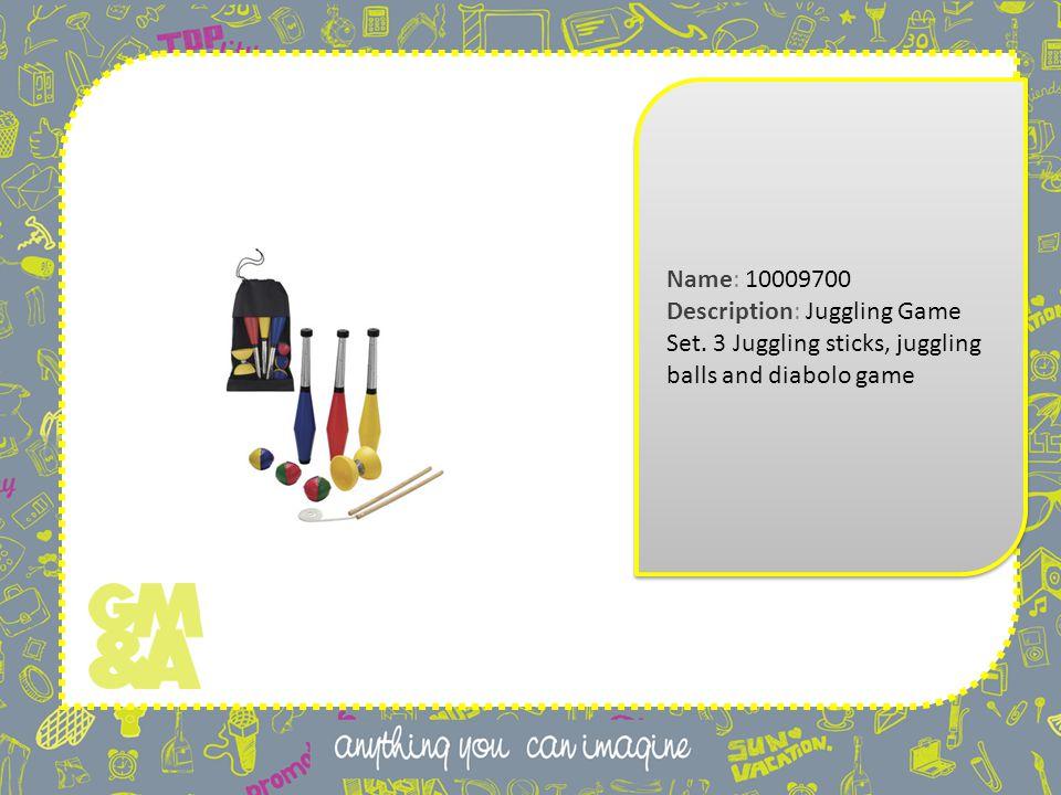Name: 10009700 Description: Juggling Game Set.