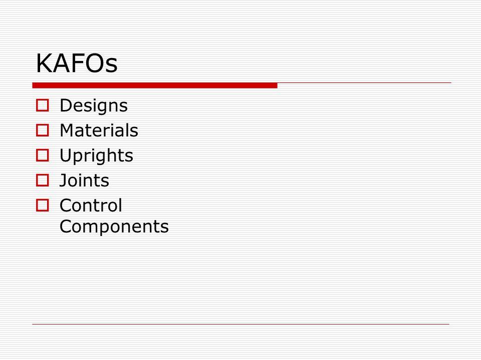 KAFOs Designs Metal Plastic Hybrid