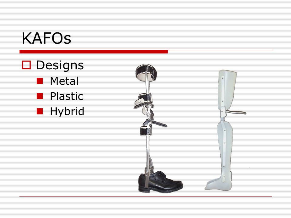 Metal KAFO Ankle Joints Free/Limited Motion ROM determined by stirrup head shape