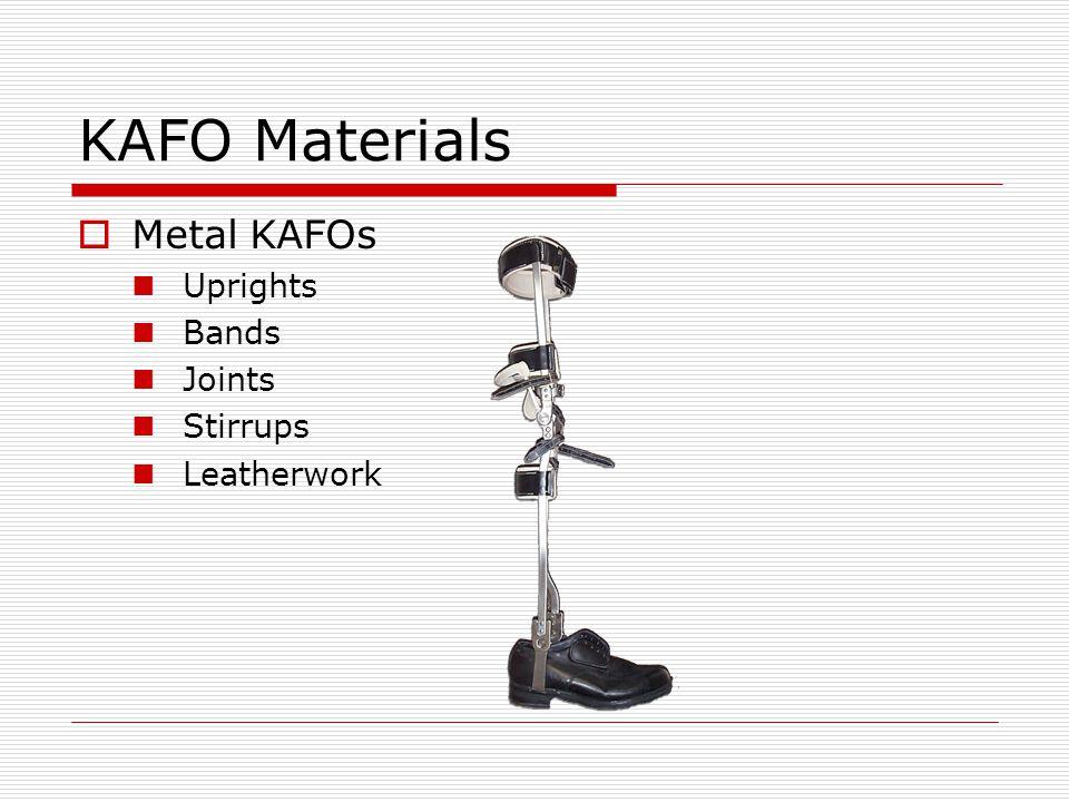 Metal KAFO Ankle Joints Dorsiflexion Assist Posterior spring creates dorsiflexion moment