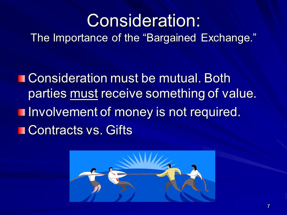 7 Consideration: The Importance of the Bargained Exchange.
