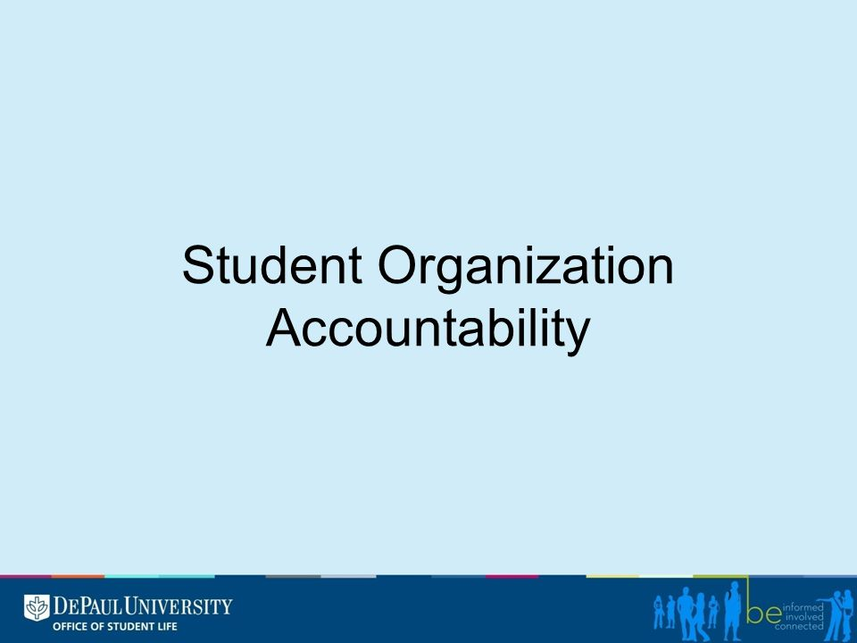 Student Organization Accountability