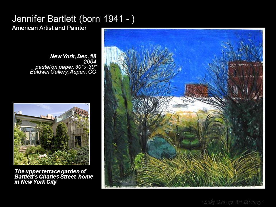 ~Lake Oswego Art Literacy~ Jennifer Bartlett (born 1941 - ) American Artist and Painter New York, Dec. #8 2004 pastel on paper, 30 x 30 Baldwin Galler