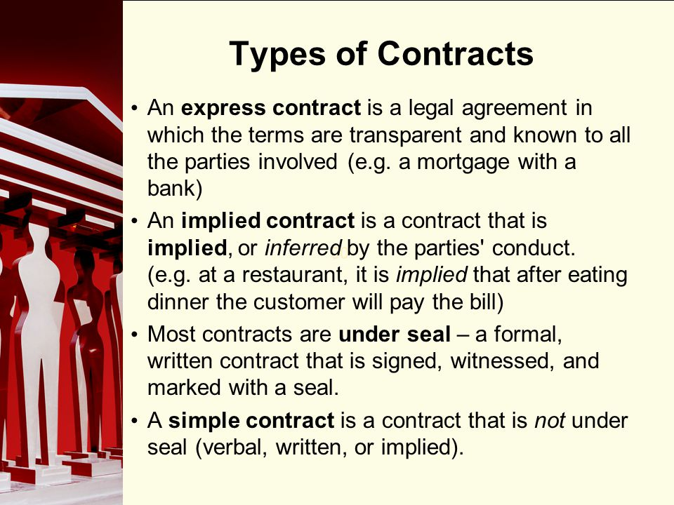 90 Elements of a Contract In an offer and acceptance, the party who initiates, or makes the offer, is known as the offeror; the party to whom the offer is made is known as the offeree.